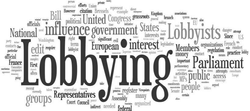La regulación de los lobbies en España